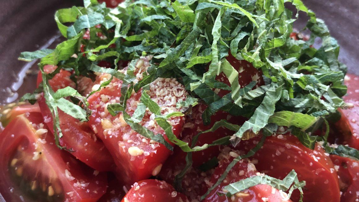 Tomates marinées au vinaigre de riz